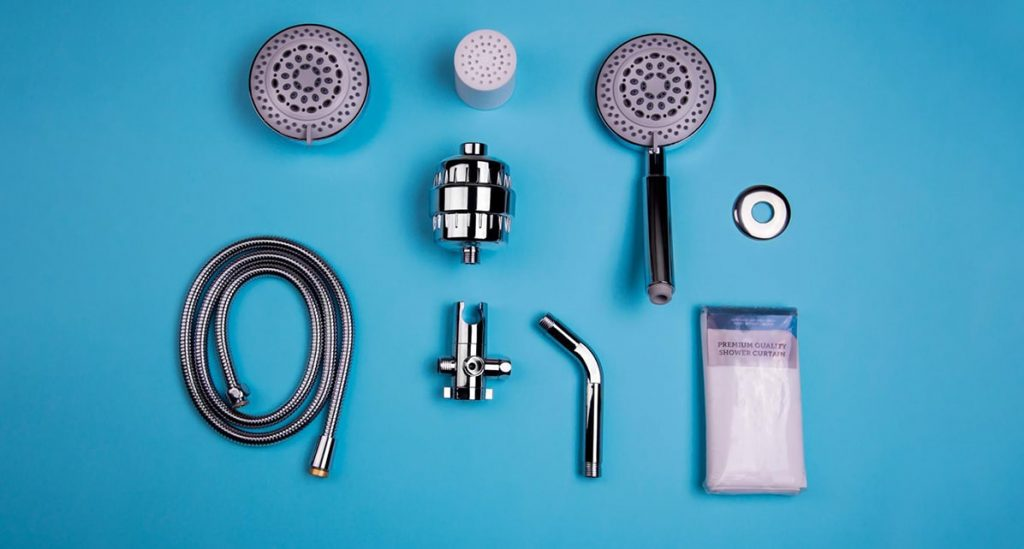shower pack with filter and cartridges