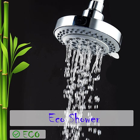 captain eco showerhead in eco shower mode