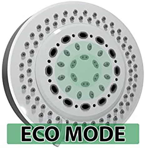 captain eco showerhead in eco mode