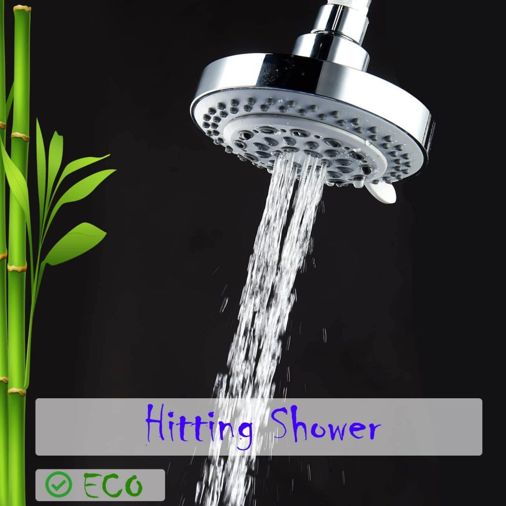 captain eco showerhead in hitting shower mode
