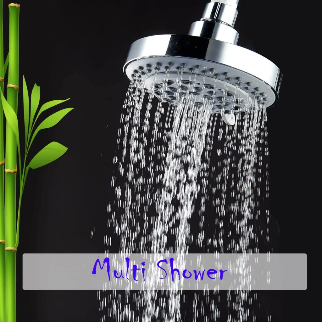 captain eco showerhead in multi shower mode