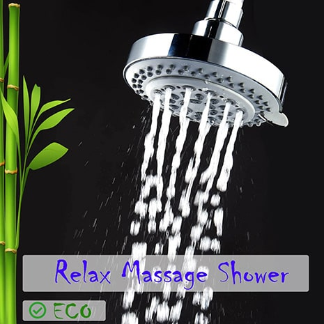 captain eco showerhead in relax massage shower mode