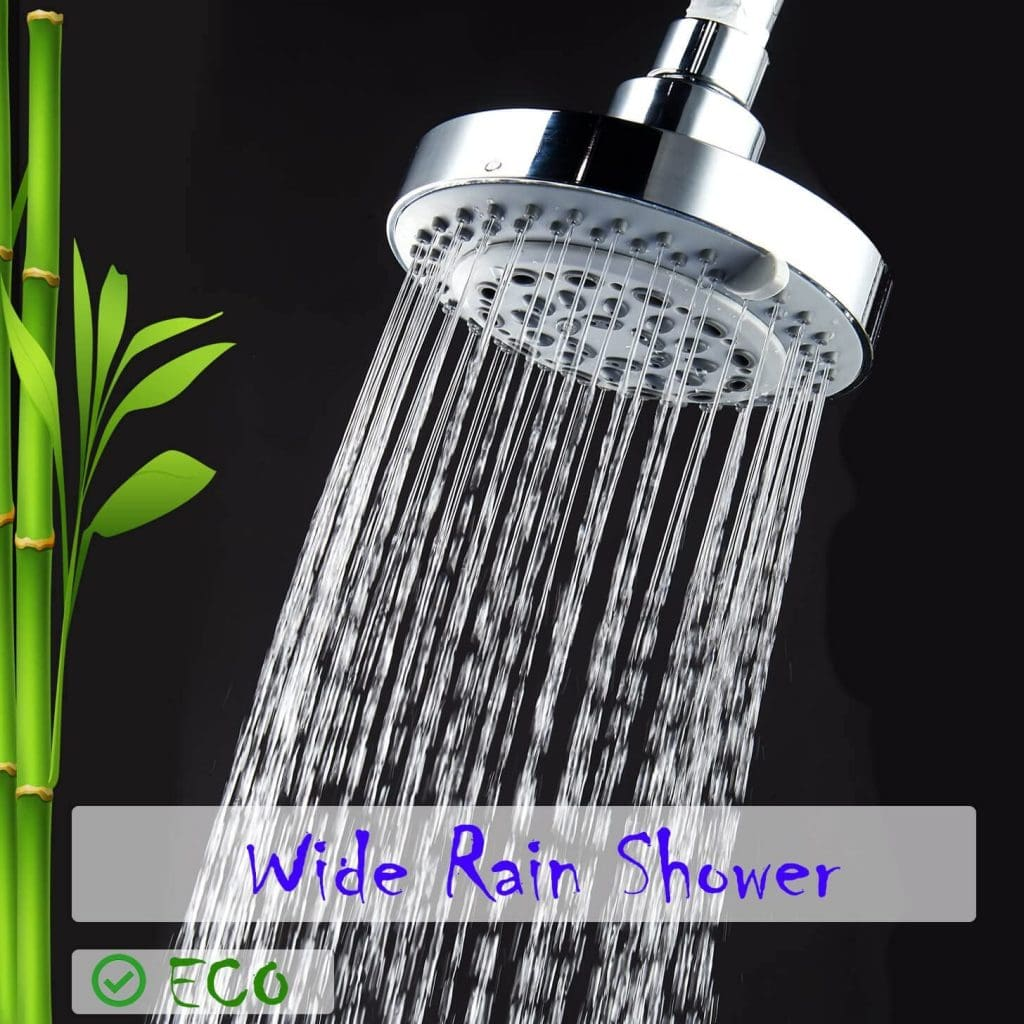 captain eco showerhead in wide rain shower mode